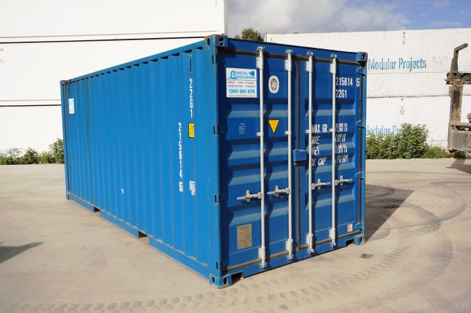 Coastal Containers 20ft blue container general purpose