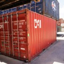 Coastal Containers 20ft red container general purpose