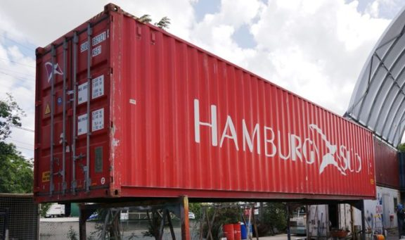 Coastal Containers 40ft red container high cube
